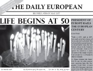 European century or European decline ? Read « The Daily European » from 2057 !