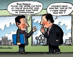 "Sarkozy strikes again : EU of the ""wise"" instead of the citizens"